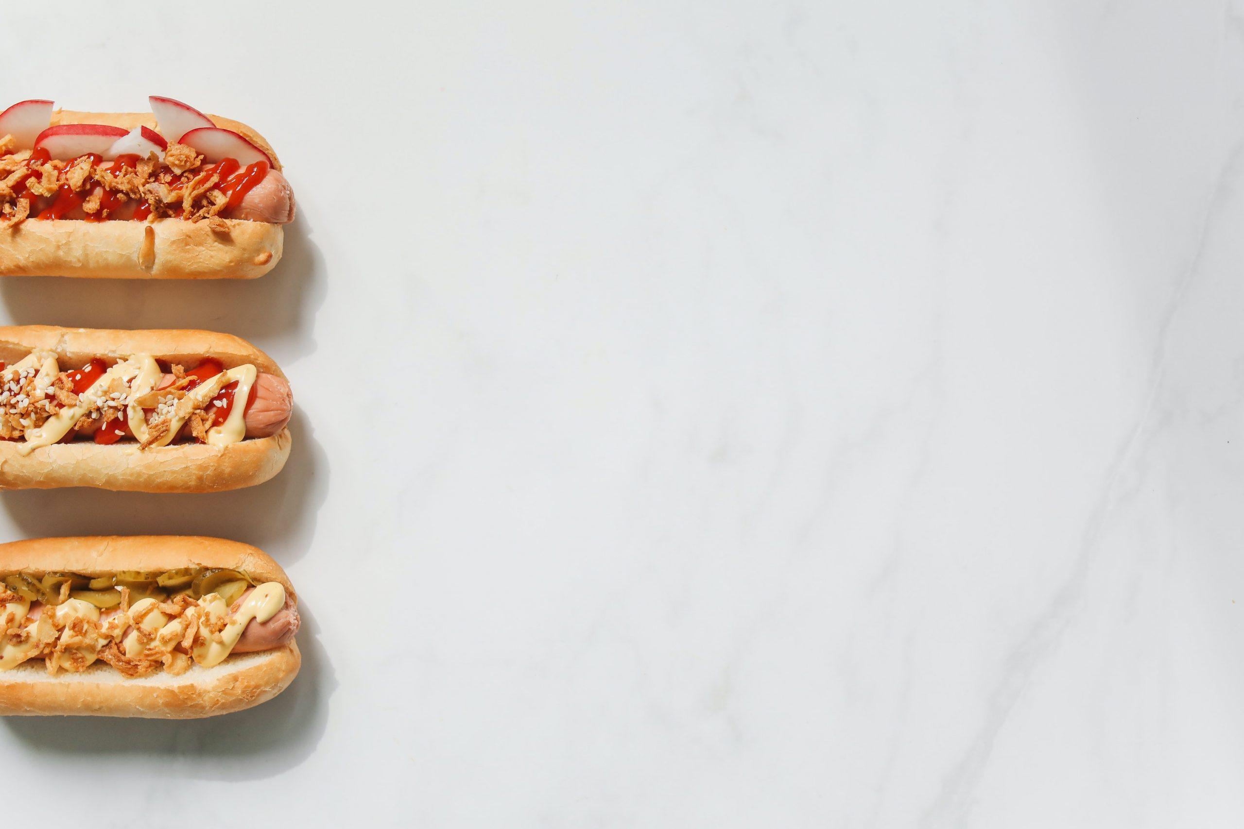 Venez Eat Hot Dog Background